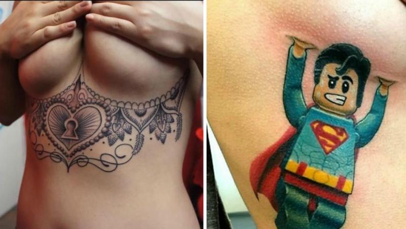 Underboob Tattoos So Schön Können Tattoos Unterhalb Der Brust Sein