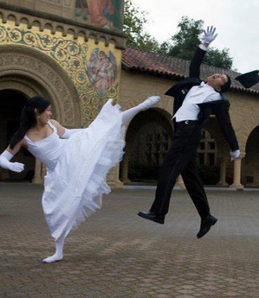Ein Hochzeitsfoto in Ninja-Version