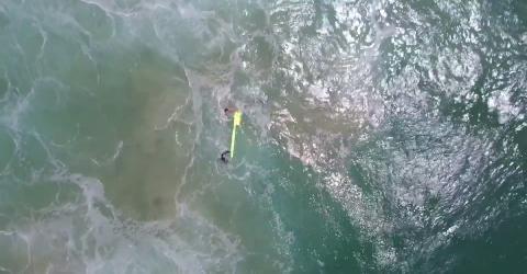 Rettung per Drohne: Erstmals hilft eine Drohne Schwimmern in Not