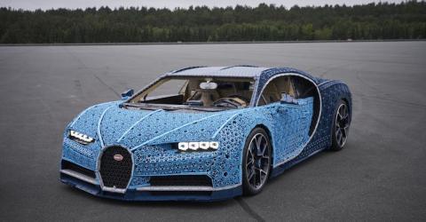 LEGO: Unglaublicher Bugatti in Originalgröße aus einer Million Legosteinen