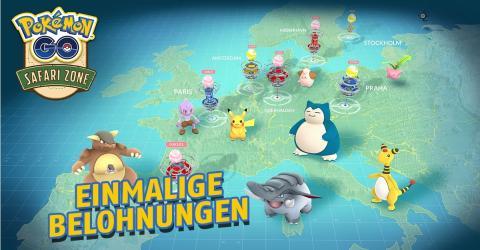 Pokémon GO: Einmalige Belohnungen für Safaris!