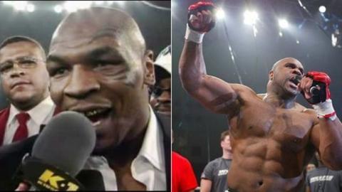 Mike Tyson provoziert Bob Sapp nach seinem Sieg