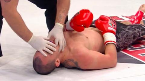 Kickboxen: Er schlägt seinen Gegner brutal K.O.