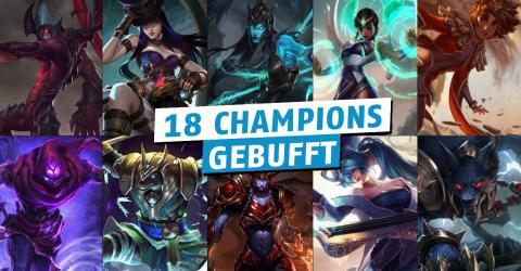 League of Legends: Mit dem kommenden Patch wird es Buffs geben, die den Schaden von fast 20 Champions betreffen