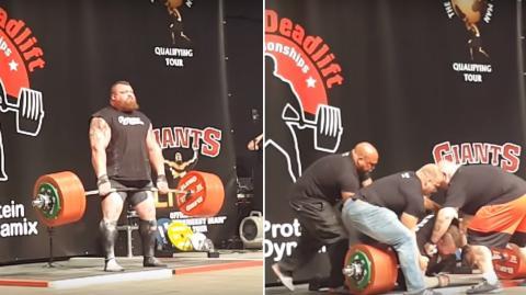 Eddie Hall hebt 500 Kilo im Deadlift und bringt sich damit in Gefahr