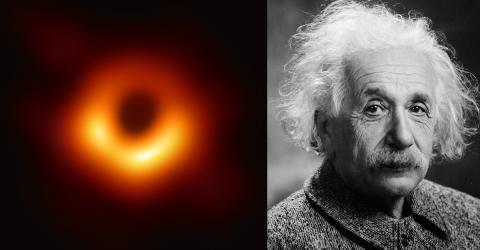 Das erste Foto von einem Schwarzen Loch zeigt, ob Albert Einstein recht hatte