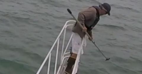 Plötzlich hängt ein furchterregendes Geschöpf aus 700 Metern Tiefe am Haken