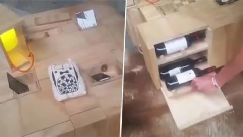 Er hat sich den praktischsten Tisch der Welt gebaut