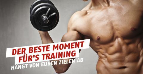 Die beste Tageszeit zum Trainieren hängt von euren Zielen ab