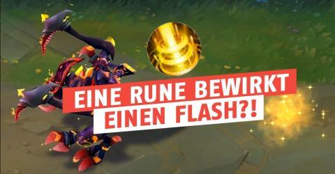 Eine Rune bewirkt, dass ihr einen kontinuierlichen Mini-Flash habt!