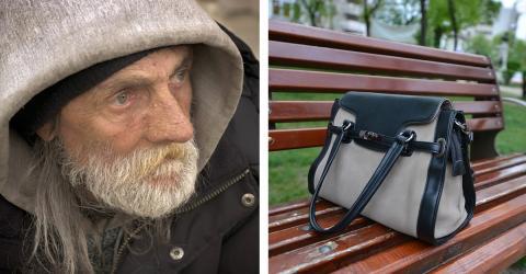 Obdachloser findet Handtasche voller Wertsachen: Dieser Fund verändert sein Leben!