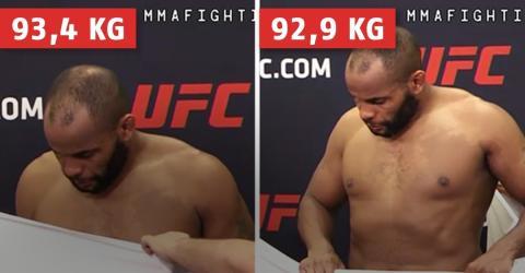 Große Polemik um das Gewicht von Daniel Cormier: Er nimmt 500 Gramm in 2 Minuten ab!