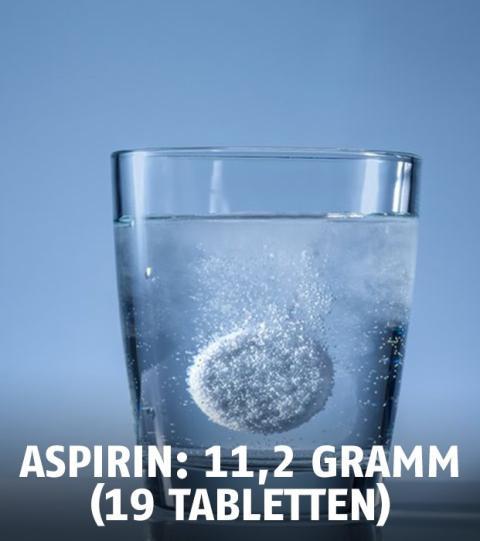 überdosis Aspirin