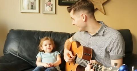 Unglaubliches Duo: Er singt gemeinsam mit seiner Tochter