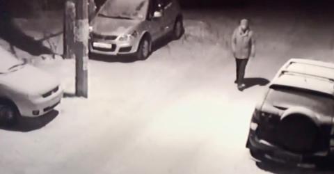 Russland: Betrunkener stolpert über Parkplatz, doch hinter dem Auto lauert etwas