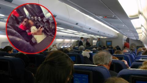Mutter setzt Kind im Flugzeug aufs Töpfchen: Die Reaktion der Stewardess löst einen heftigen Streit aus!