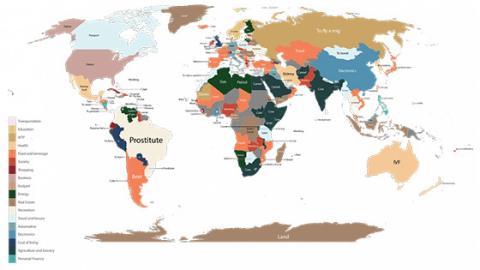 Google-Suche: Welche Wörter werden in welchem Land am meisten gesucht?