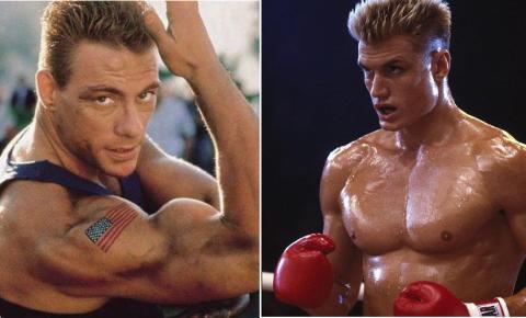 Jean-Claude Van Damme und Dolph Lundgren alias Ivan Drago kriegen sich auf dem roten Teppich in die Haare