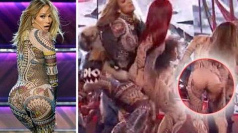 American Music Awards 2015: Die Tänzerin von Jennifer Lopez verliert ihre Hose bei der Liveshow