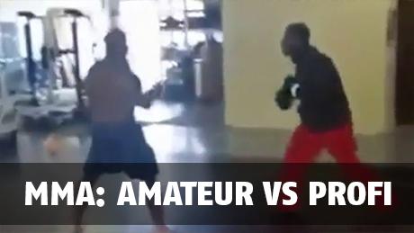 MMA: Ein Amateur lädt sich selbst in eine Sporthalle ein und fordert einen Profiboxer zum Kampf heraus
