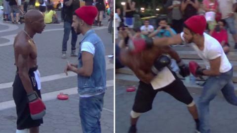 Amateur fordert Profi-Boxer zum Straßenkampf heraus