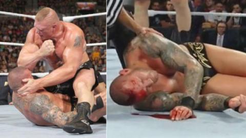Brock Lesnar verletzt unabsichtlich Randy Orton beim SummerSlam