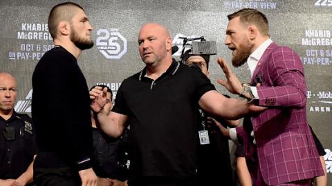 Bereit für den Kampf: Conor McGregor und Khabib Nurmagomedov lassen Punchline-Gewitter los!