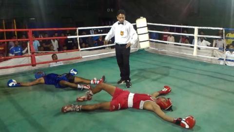 Boxen: Amateurkampf endet mit perfektem Doppel-K. o.!