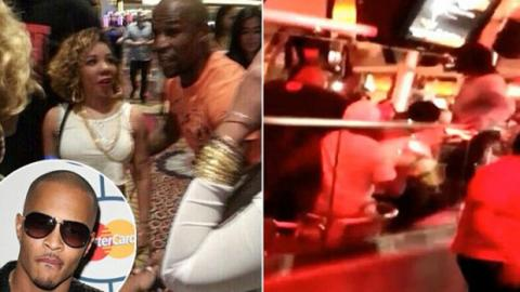 Floyd Mayweather kämpft gegen den Rapper T.I.