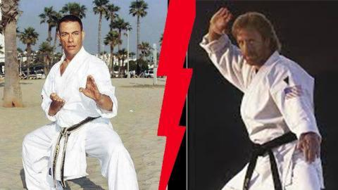 So sieht es aus, wenn Jean-Claude Van Damme und Chuck Norris gemeinsam trainieren