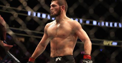 Die unglaublichen Bilder vom ersten MMA-Kampf von Khabib