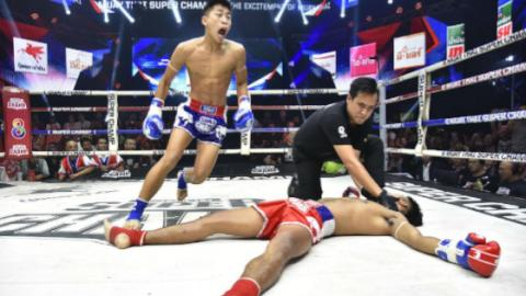 Muay Thai: Schon jetzt der heftigste Headkick des Jahres!