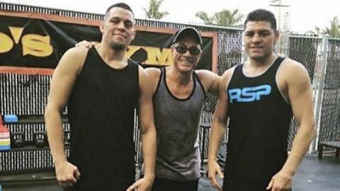 Nate Diaz und sein Bruder Nick trainieren mit Jean Claude Van Damme