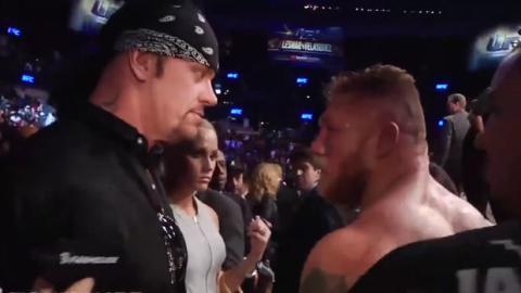 Diese Konfrontation zwischen The Undertaker und Brock Lesnar hätte ins Auge gehen können