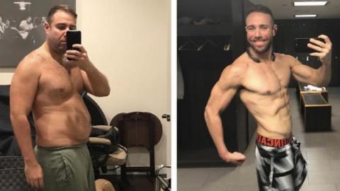 Dieser Mann hat es mit einer Wette geschafft, 30 kg in 6 Monaten abzunehmen!