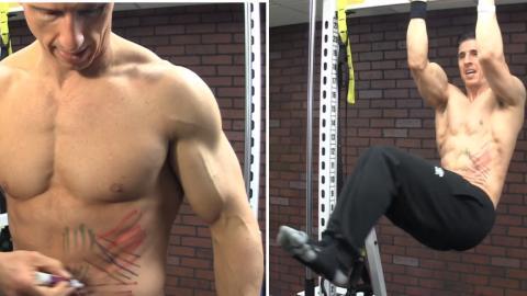 Ein super Tipp, um die schrägen Bauchmuskeln beim Bauchmuskeltraining anzuvisieren