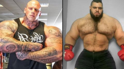 Nightmare vs. Hulk: Zwei Bodybuilder begegnen sich im MMA-Käfig!