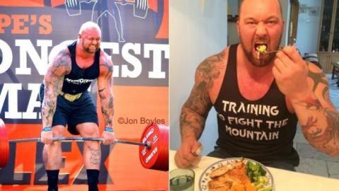 Hafthor Bjornsson: seine Ernährung vor dem Wettkampf um den Titel des stärksten Manns der Welt