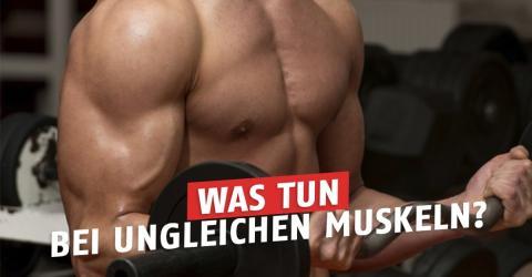 Ein Arm oder ein Muskel ist dicker als der andere - was tun?