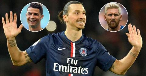 Zlatan Ibrahimovic spricht über Ronaldo, Cristiano Ronaldo und Lionel Messi