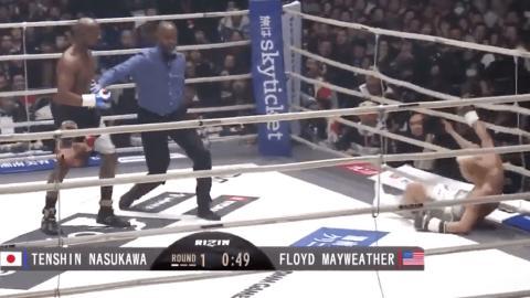 Tränen im Ring: Floyd Mayweather zerlegt Tenshin Nasukawa in einer Runde