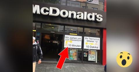 McDonald's in Mannheim: Schild auf Deutsch und Türkisch sorgt für Ärger