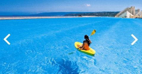 Tauche in das größte Schwimmbad der Welt ein! Erfrischung pur!