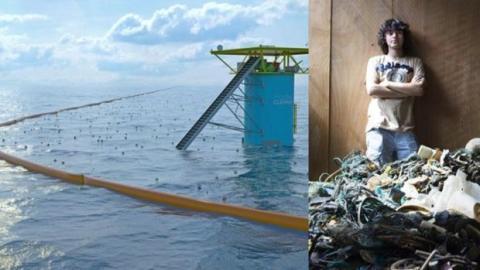Boyan Slat, ein zwanzigjähriges Genie will die Ozeane säubern.