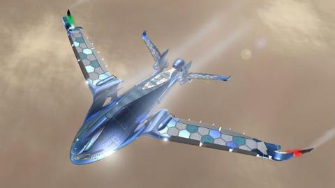 Progress Eagle: Das ökologische und autarke Flugzeug der Zukunft.