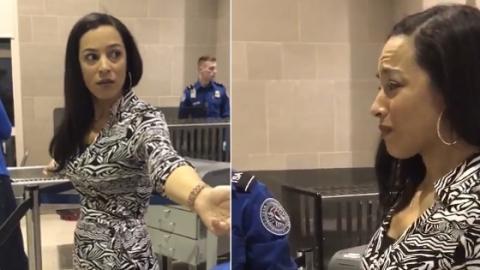 Am Flughafen abgetastet: Diese Kontrolle bringt eine Frau zum Weinen
