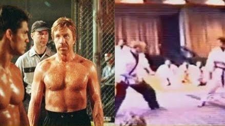 Seltene Bilder von einem Kampf zwischen Chuck Norris und Rickson Gracie