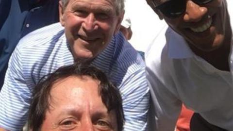 3 Präsidenten auf einen Streich: Er schießt das seltenste Selfie der Welt