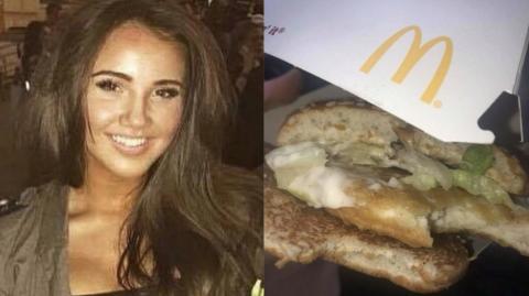 Eine McDonald's-Kundin macht eine schockierende Entdeckung in ihrem McChicken