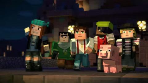Minecraft Story Mode PS Xbox One PC Ein Erster Trailer Zum - Minecraft xbox auf pc spielen